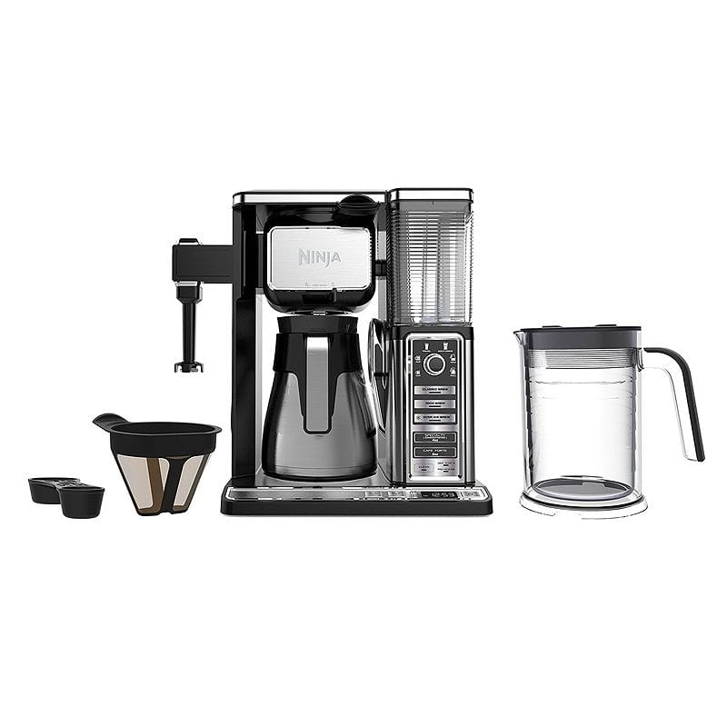 ニンジャ コーヒーバー コーヒーメーカー ミルク泡だて機能付 ステンレスカラフェ Ninja Coffee Bar Thermal Carafe System (CF097) 家電