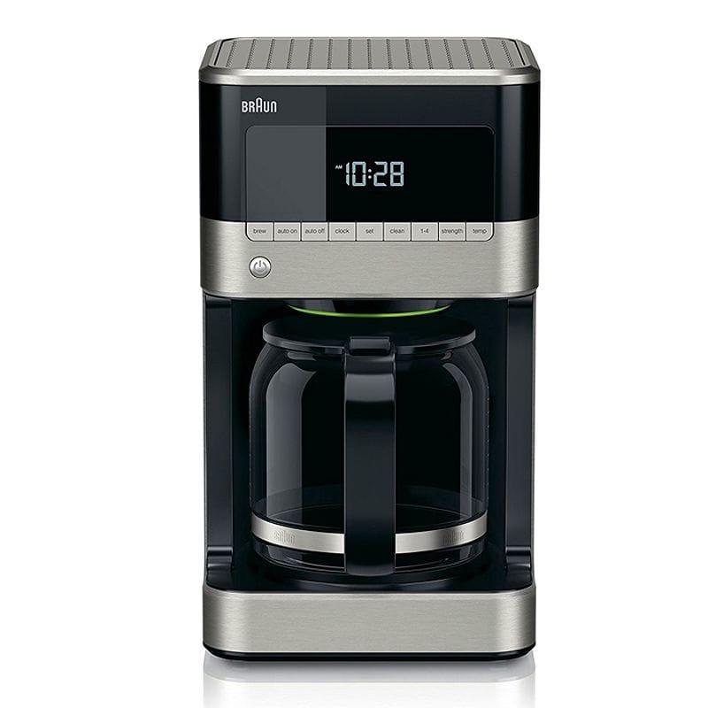ブラウン コーヒーメーカー 12カップ デジタル プログラム Braun KF7150BK Brew Sense Drip Coffee Maker, Black 家電