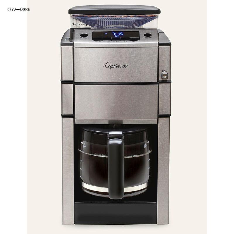 カプレッソ コーヒーメーカー 豆挽き付 ガラスカラフェ Capresso CoffeeTEAM PRO Plus with Glass Carafe 487.05 家電