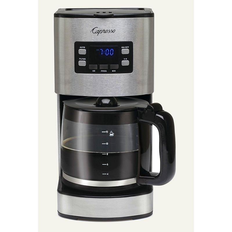 カプレッソ コーヒーメーカー ガラスカラフェ Capresso SG300 12-Cup Stainless Steel Coffee Maker 434.05 家電