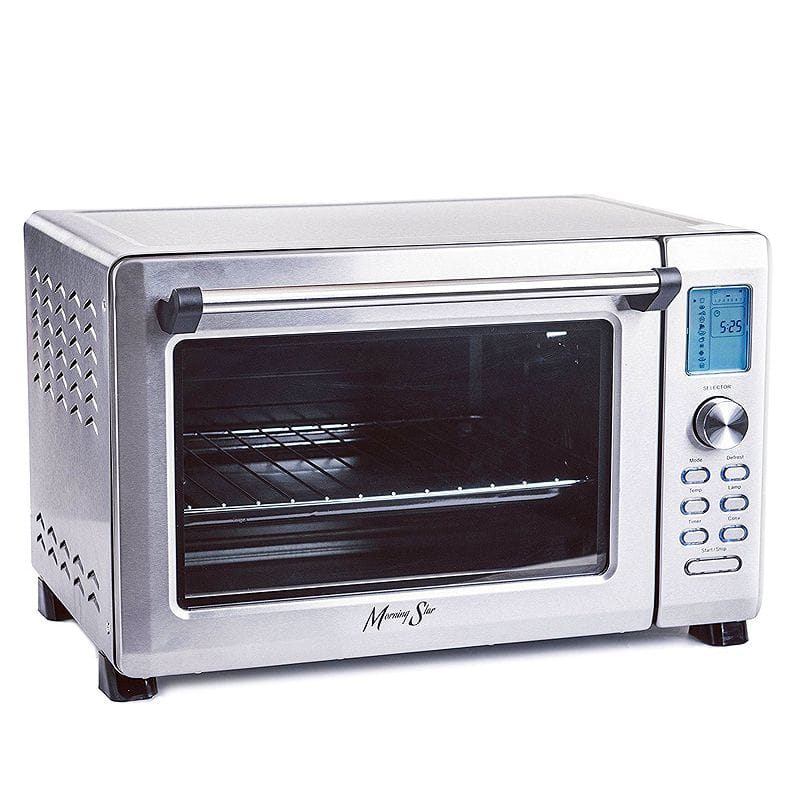 大容量 コンベクショントースターオーブン デジタル Morning Star - Extra Large -12-Slice Countertop Digital Infrared Convection Toaster Oven, Stainless Steel 家電