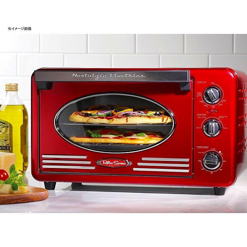 노스타르지아콘베크션토스타오분레트로 Nostalgia RTOV220RETRORED Retro Series 6-Slice Convection Toaster Oven