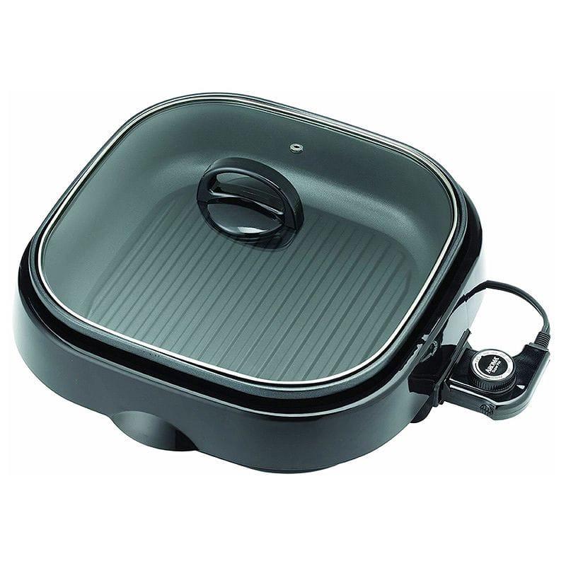 1台3役 アロマ スロークッカー スチーマー グリル Aroma Housewares ASP-238BC Grillet 3-in-1 Indoor Grill 家電