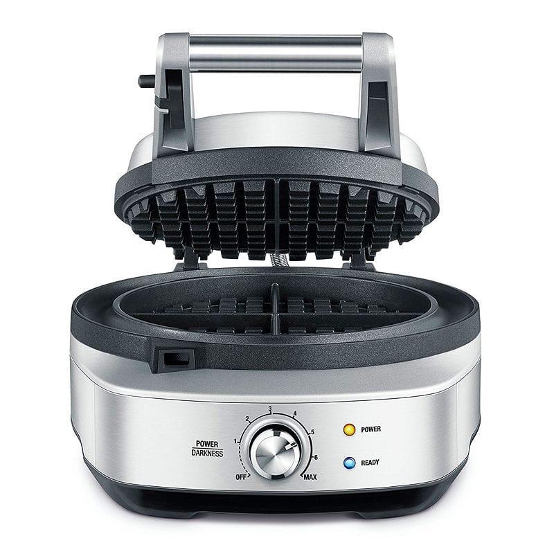 ブレビル ワッフルメーカー 丸形 4枚焼 Breville BWM520XL The No Mess Waffle Maker, Silver 家電