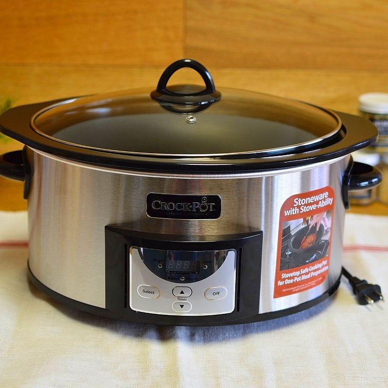 クロックポット スロークッカー 直火OK 5.7L Crock-Pot , 6-Quart, Countdown Programmable Oval Slow Cooker with Stove-Top Browning SCCPVI600 【日本語説明書付】 家電