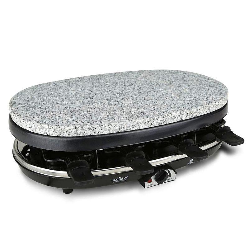 ラクレットグリル 8人用 ストーンプレート付 NutriChef Raclette Grill , 8 Person Party Cooktop, Stone Plate & Metal Grills 1000 Watt (PkgRST46) 家電