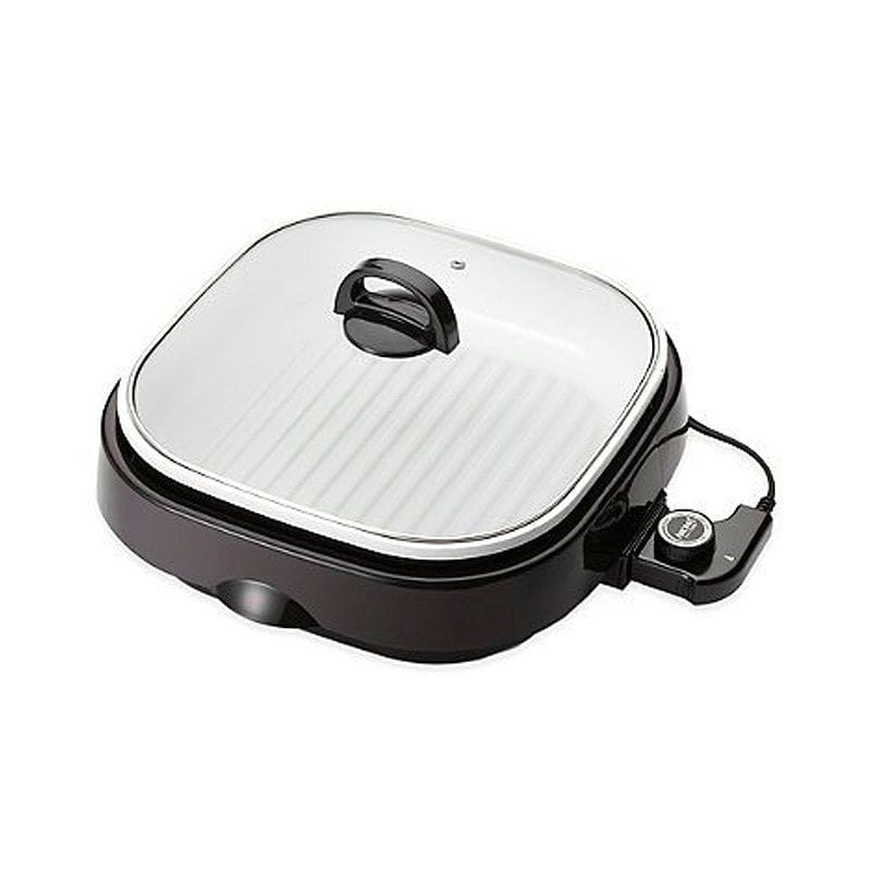 アロマ スロークッカー スチーマー グリル セラミック  Aroma 4-Quart 3-in-1 Grillet with Ceramic Coating, 8 Lbs. Weight Capacity, Acts as a Grill, Slow Cooker and Food Steamer 家電