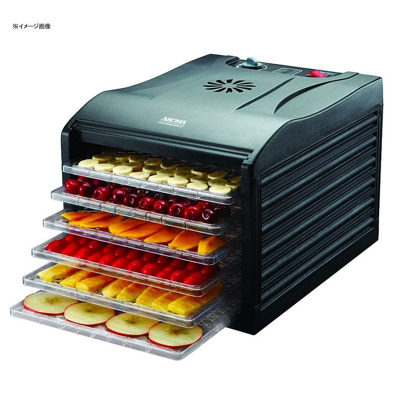 アロマ 食品乾燥機 6段 ブラック Aroma Housewares Professional 6 Tray Food Dehydrator