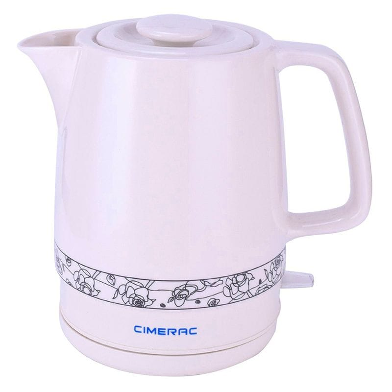 電気ケトル セラミック 1.7L CIMERAC Ceramic Electric Kettle with Boil Dry Protection,1.7 Liter Boiling Pot for Tea and Coffee (White) 家電