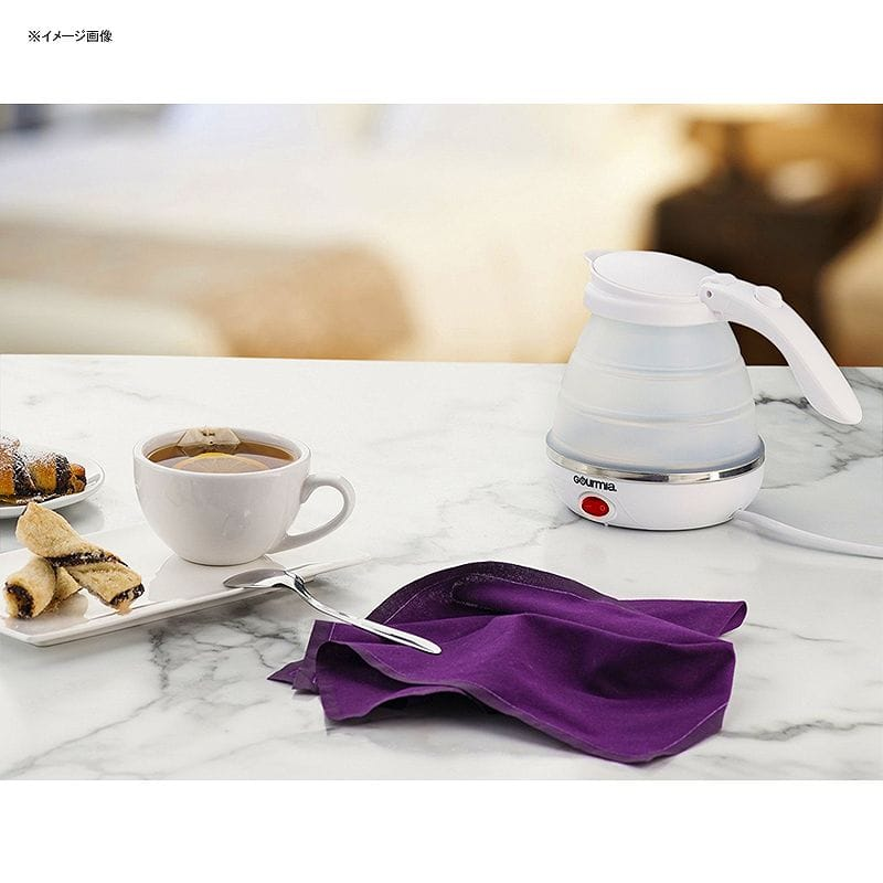For a trip! Foldable electric kettle portable compact silicon Gourmia GK320 Travel Foldable Electric Kettle - Dual Voltage - Food Grade Silicone, Collapses for Easy & Convenient Storage, Boil Dry Protection, .5 Quart