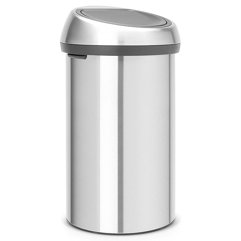 Brabantia 60 Liter.Bra Van Shea Trash Box 60l Stainless Steel Brabantia Touch Trash Can 16 Gallon 60 Liter Matte Steel Fingerprint Proof 484506