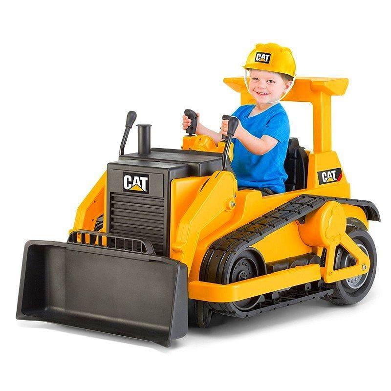【組立要】キッド・トラックス CAT ブルドーザー 12ボルト バッテリー付電動自動車 対象年齢3才~ 電気自動車 電動カー Kid Trax CAT Bulldozer 12-Volt Battery-Powered Ride-On