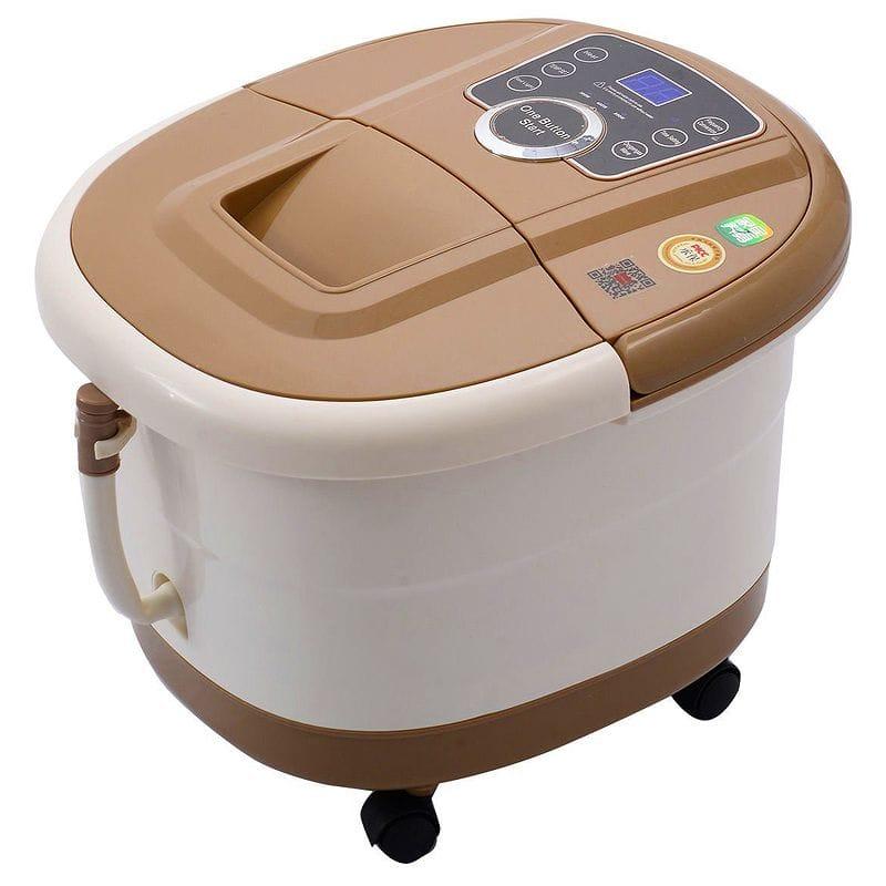 フットバス 足湯器 フットスパ マッサージ 持ち運び簡単 冷え性 足浴 エステ Giantex Portable Foot Spa Bath Massager Bubble Heat LED Display Vibration Infrared Relax 家電