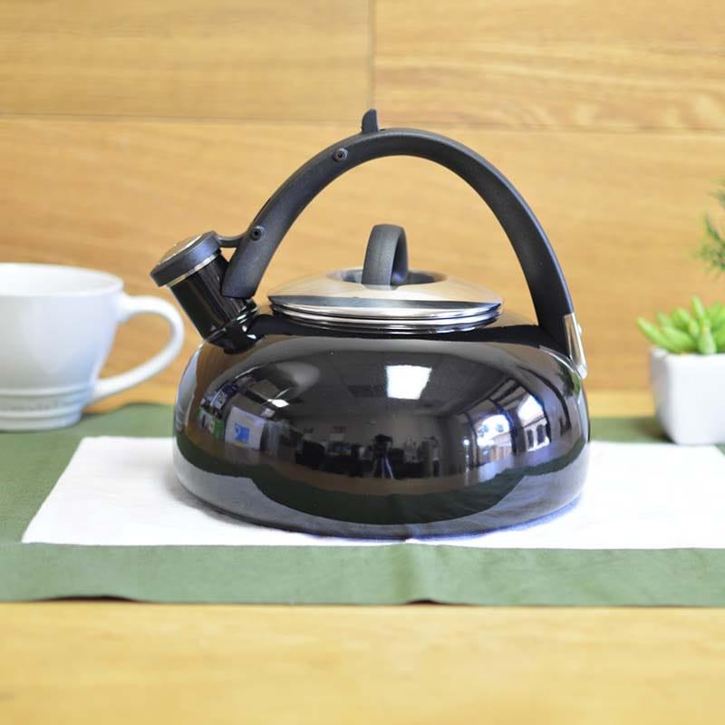 クイジナート ホーロー笛吹きケトル 最大容量2L 黒 IH対応 Cuisinart Peak 2 Qt. Tea Kettle Black CTK-EOS2BK