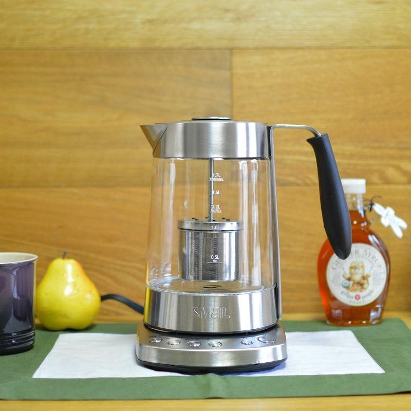 茶こし付電気ケトル 温度調整可 ガラス SMAL WK-0816 Temp Programmable Combined Tea Maker and Electric Kettle 1.7-Liter