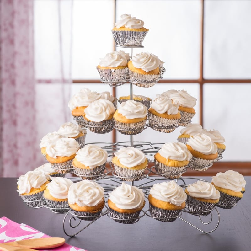 カップケーキスタンド ホルダー 5段 U.S. Cake Supply Brand 41 Count Metal Cupcake Dessert Stand with 5 Tiers