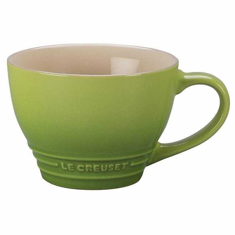 ルクルーゼ スープボウル ビストロマグ 414ml パーム グリーン 2個セット Le Creuset Stoneware Bistro Mug, 14 oz, Palm