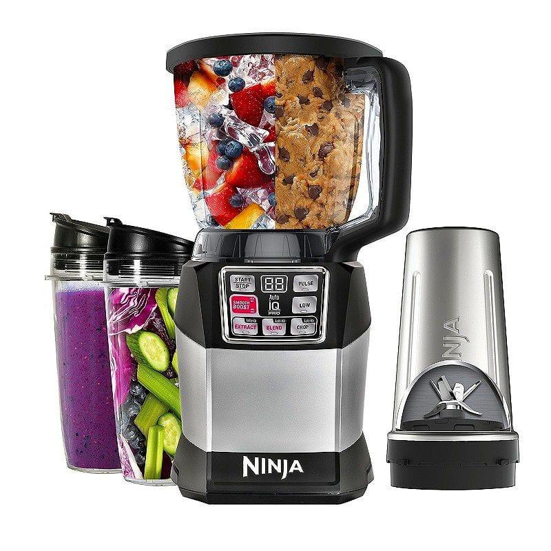 ニンジャ Auto-iQ コンパクトブレンディングシステム ブレンダ― ミキサー Nutri Ninja Auto-iQ Compact Blending System BL492
