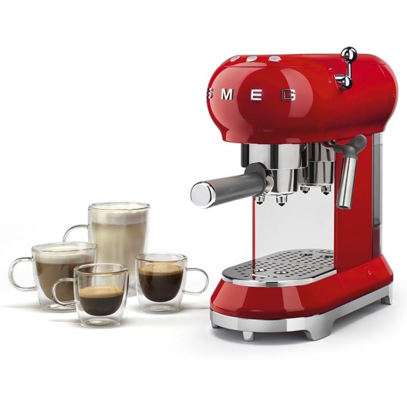 スメッグ エスプレッソメーカー レトロスタイル Smeg Espresso Machine 50's Retro Style Aesthetic ECF01 家電