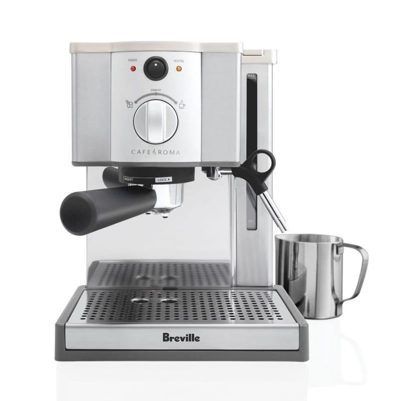 ブレビル エスプレッソマシン Breville ESP8XL Cafe Roma Stainless Espresso Maker 家電