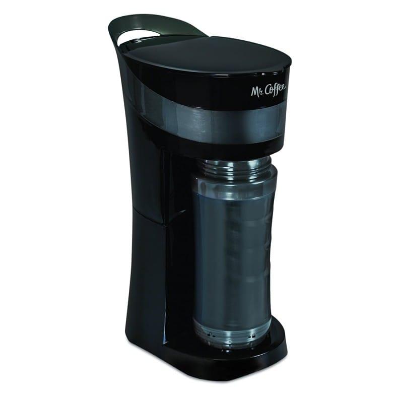 附帶附帶供一個人使用的電咖啡壺單人個人獨自生活大玻璃杯的啤酒杯的蚊子隨便的Lumi明星咖啡Mr. Coffee Pour! Brew! Go! 16-Ounce Personal Coffee Maker with Insulated TO-GO mug