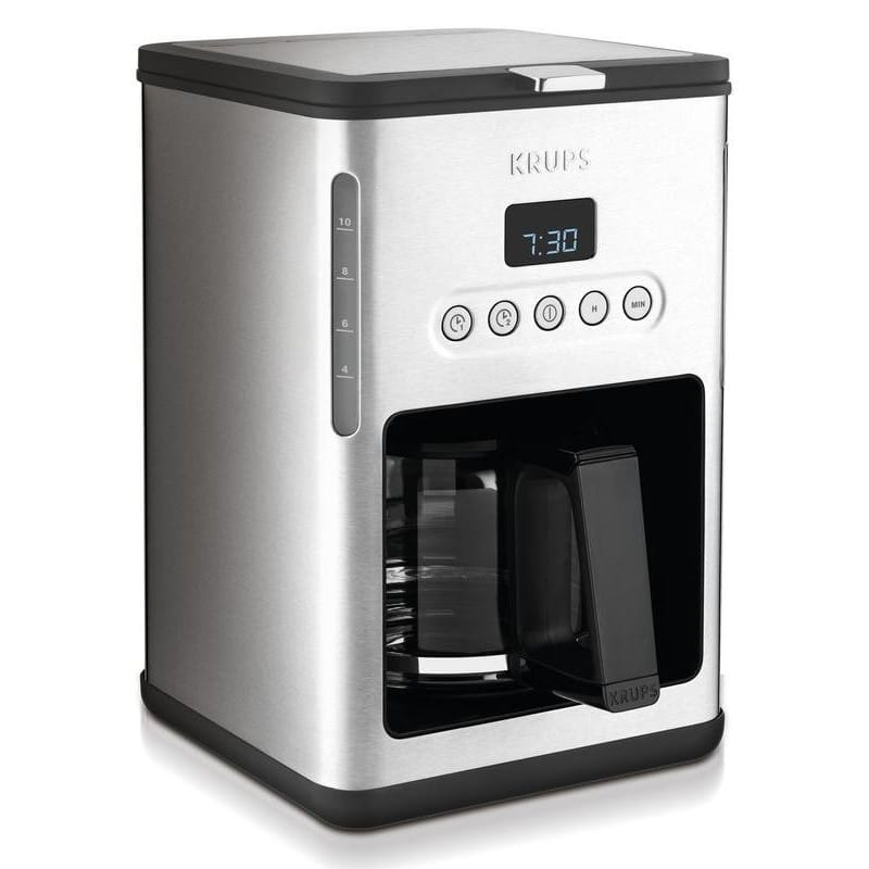 クラップス コーヒーメーカー ガラスカラフェ 10カップ KRUPS with Programmable KM442D Steel Control Line Programmable Coffee Maker Machine with Stainless Steel Finish 家電, 熊野町:45480f64 --- sunward.msk.ru