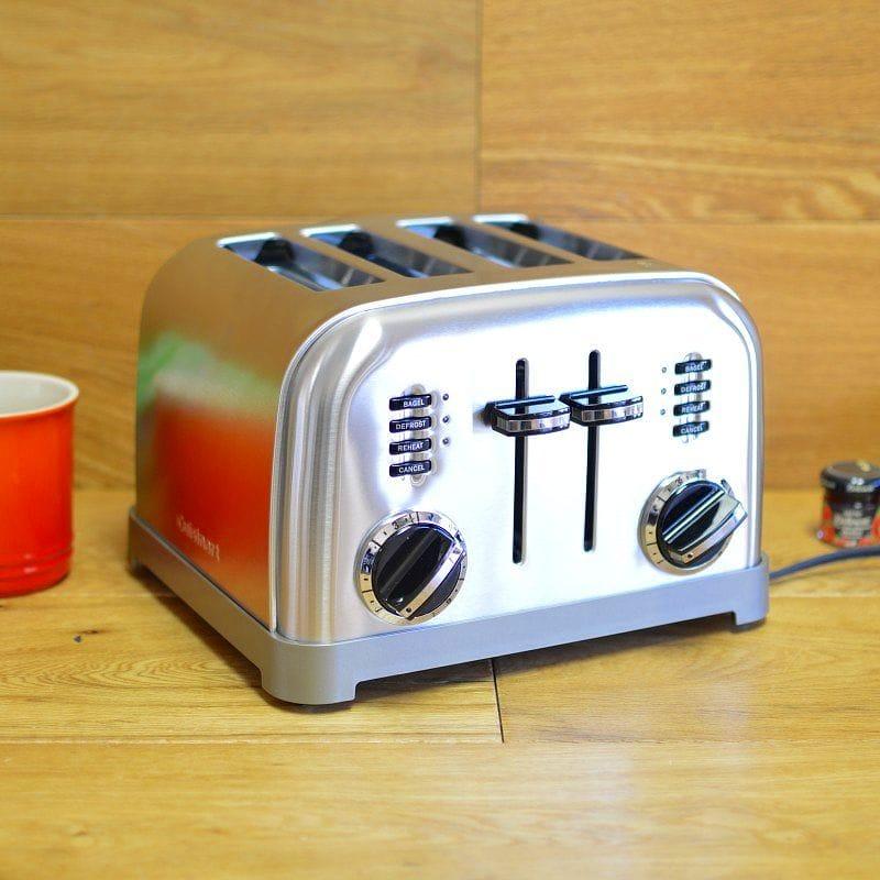 Cuisinart 金属经典 4 洁具烤面包机烤面包机 4 片 Cuisinart CPT 180 金属经典