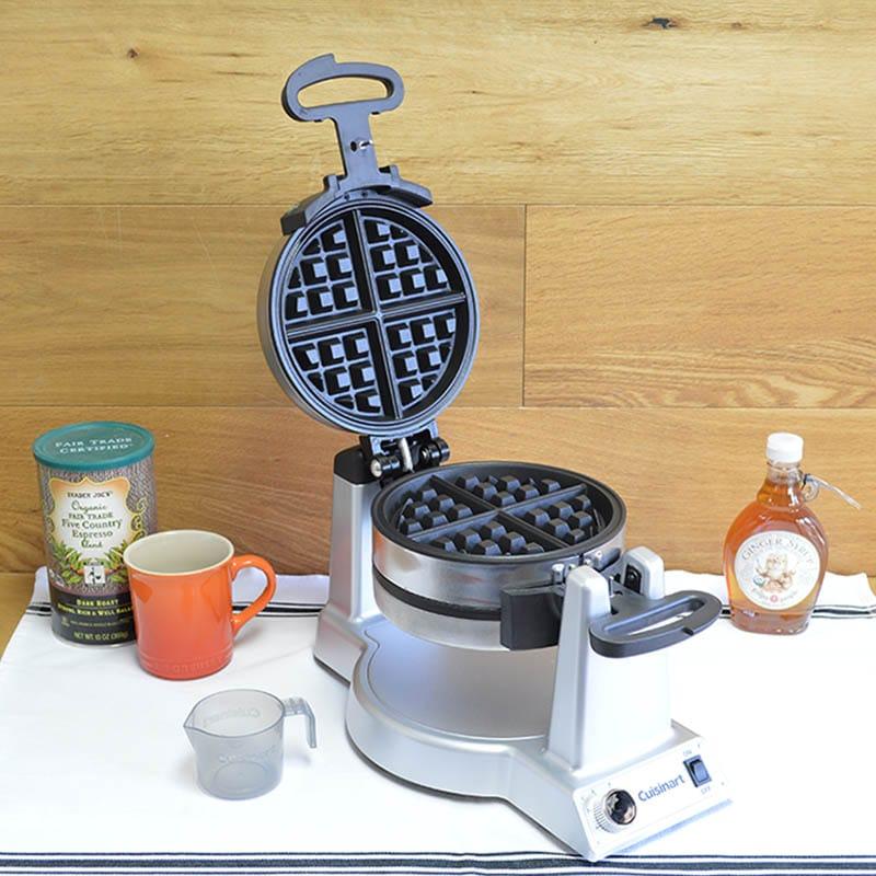 クイジナート フリップ式 ダブルワッフルメーカー 上下2枚焼 Cuisinart WAF-F20 Double Belgian Waffle Maker 家電