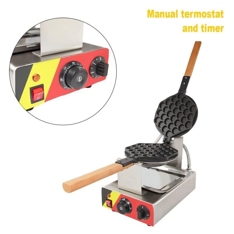 업무 품질 프로 사양 에그 와플 메이커 톱 퀄리티 모델 플립식 에그 케이크 그릴 버블 와플 Puffle Waffle Maker Professional Rotated Nonstick FY-6 R