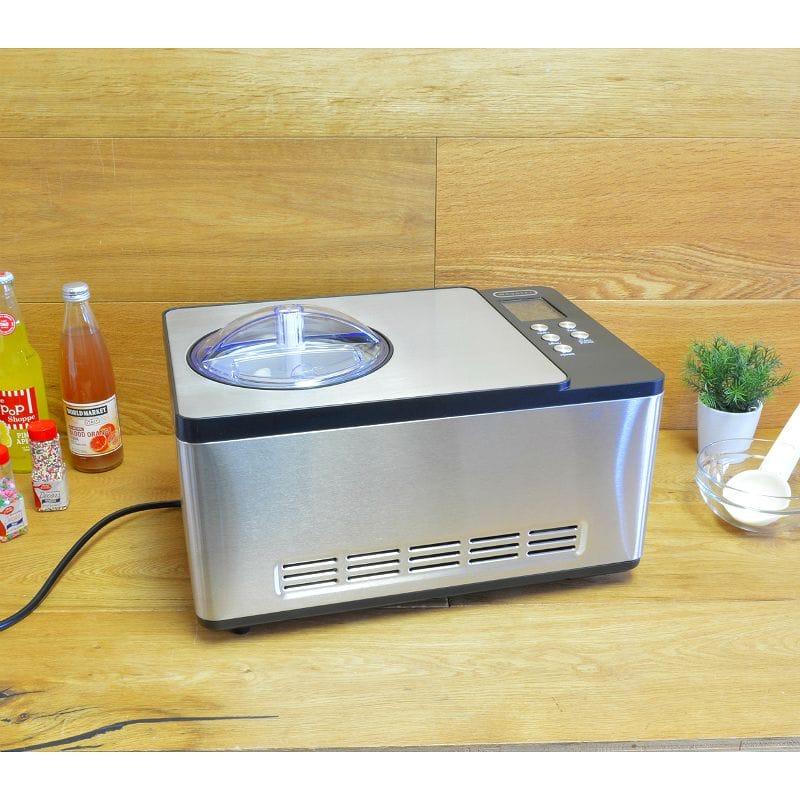 アイスクリームメーカー コンプレッサー内蔵 2.0L Whynter ICM-200LS Stainless Steel Ice Cream Maker, 2.1-Quart, Silver