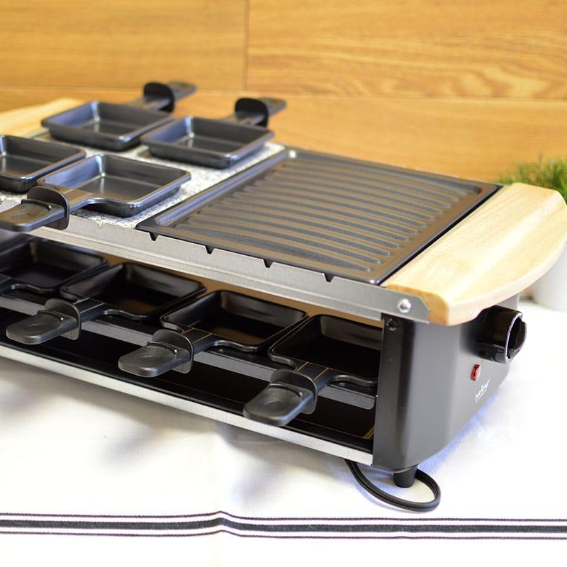 ラクレットグリル 8人用 鉄板×ストーンプレート NutriChef Raclette Grill, Two-Tier Party Cooktop PkgRST54 家電