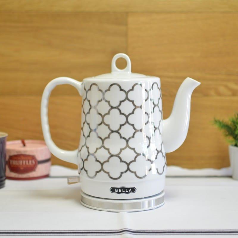 ベラ 電気ケトル セラミック 1.2L BELLA 1.2L Electric Ceramic Tea Kettle with detachable base and boil dry protection 家電