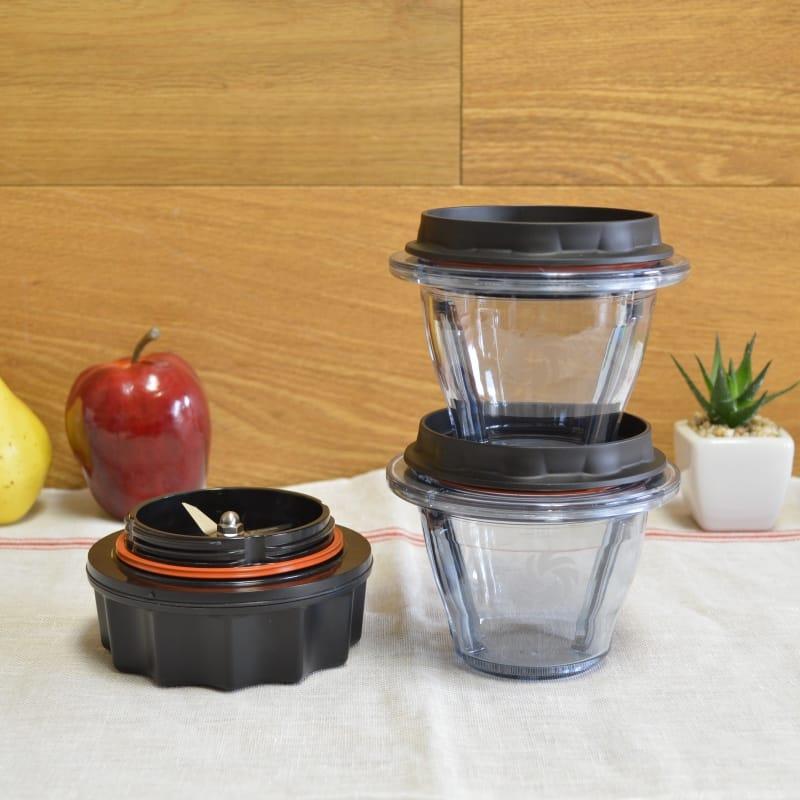 バイタミックス アセント Ascentシリーズ用 ブレンディングボウル 240ml 2個 ブレードセット Vitamix Blending Bowls Starter Kit【日本語説明書付】