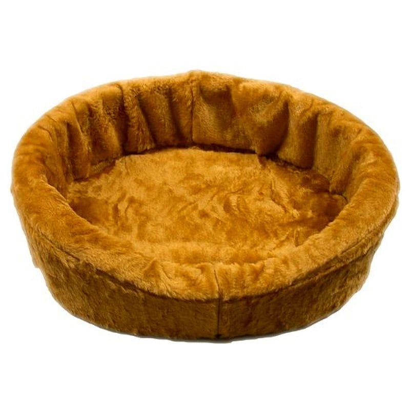 カドラー ドッグベッドキング ペット 犬 アメリカ製 Dog Bed King USA Tan Plush Fur Dog Ortho Comfort Bed
