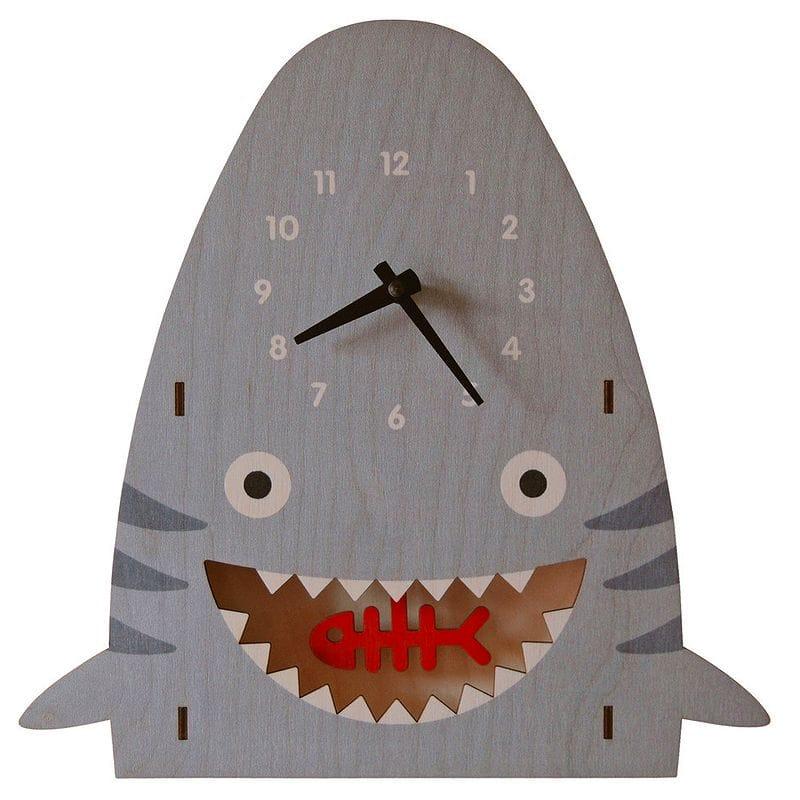 ウォールクロック 木製 振り子時計 壁掛け時計 サメ シャーク Modern Moose Shark Pendulum Wall Clock