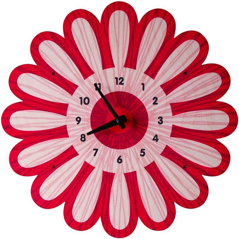 ウォールクロック 木製 壁掛け時計 フラワー 花 Modern Moose Bloom Wall Clock