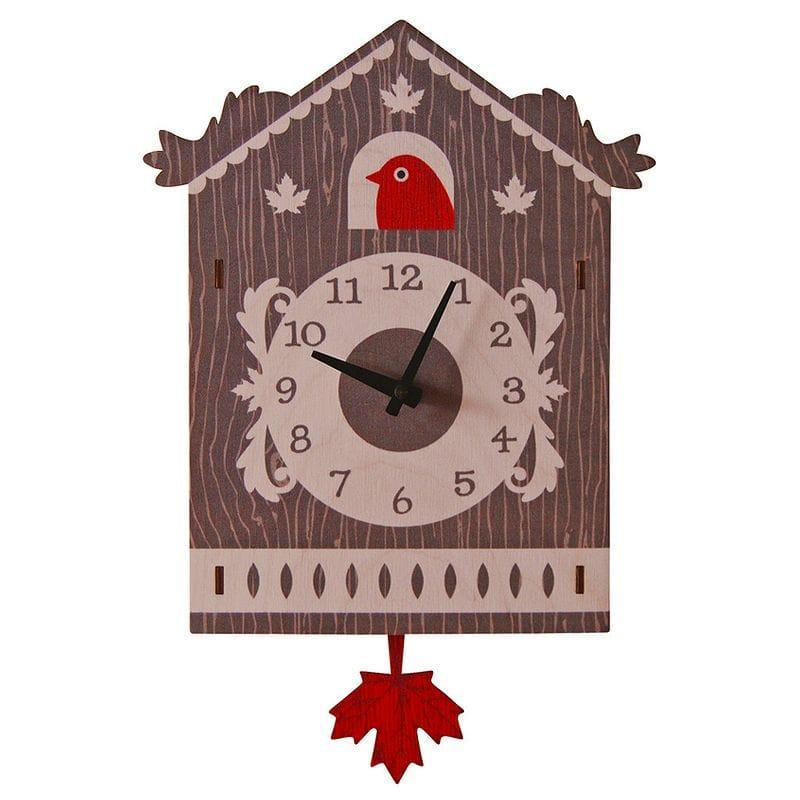 ウォールクロック 木製 振り子時計 壁掛け時計 カッコウ メープル Modern Moose Cuckoo Pendulum Wall Clock