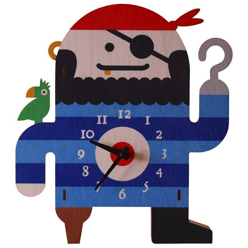 ウォールクロック 木製 壁掛け時計 パイレーツ 海賊 Modern Moose Pirate Wall Clock
