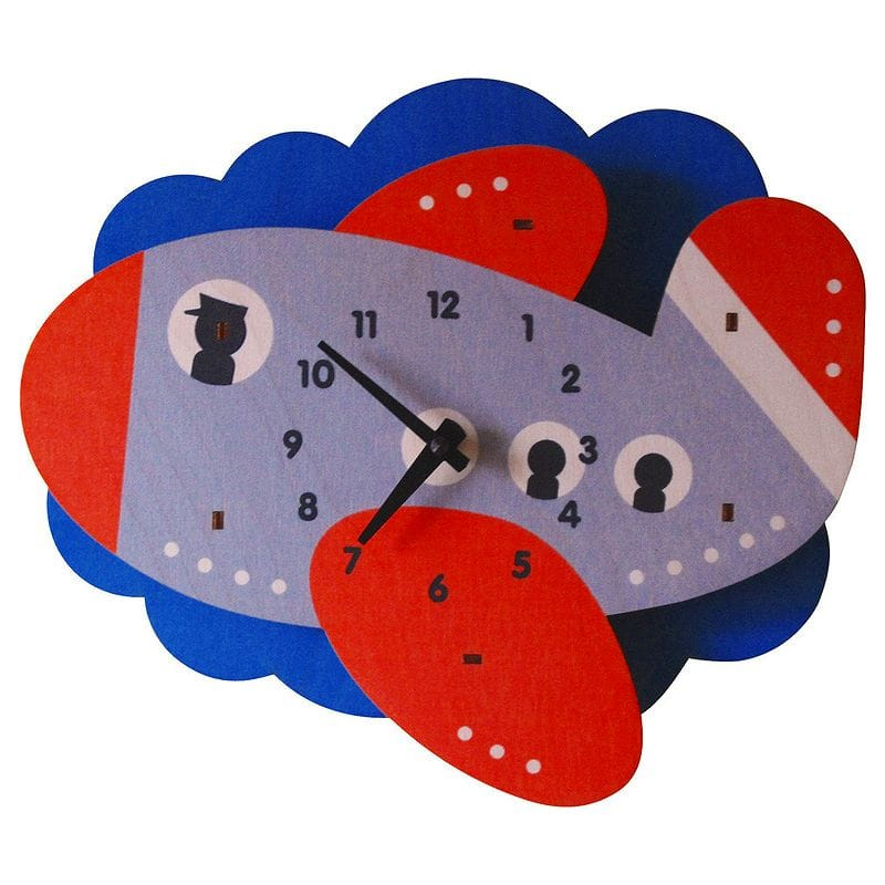 ウォールクロック 木製 壁掛け時計 ジェット 飛行機 Modern Moose Jet Plane Wall Clock