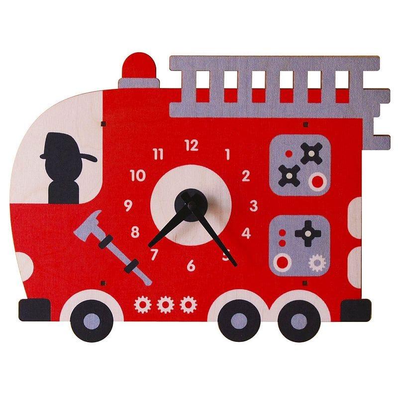 ウォールクロック 木製 壁掛け時計 消防車 Modern Moose Fire Truck Wall Clock
