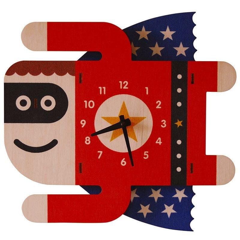 ウォールクロック 木製 壁掛け時計 スーパーボーイ スーパーマン Modern Moose Superboy Wall Clock