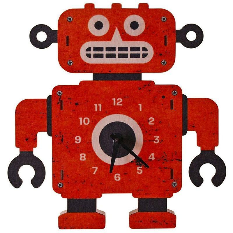 ウォールクロック 木製 壁掛け時計 ロボット Modern Moose Clockbot Wall Clock