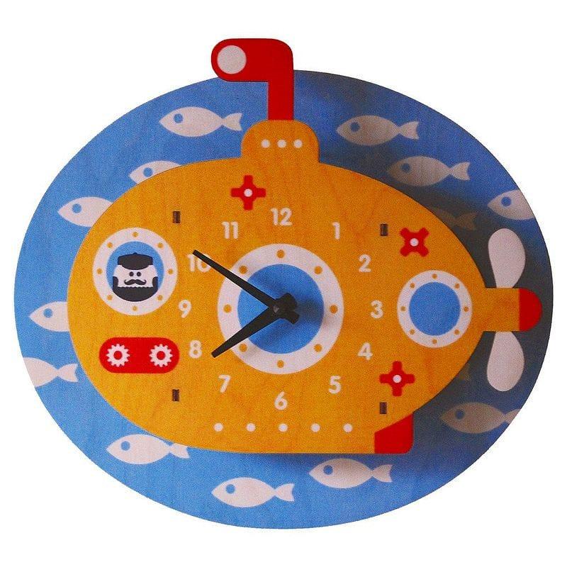 ウォールクロック 木製 壁掛け時計 せんすいかん Modern Moose Periscope Wall Clock