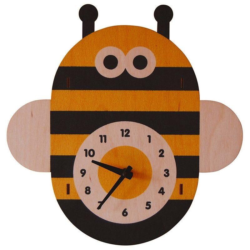 ウォールクロック 木製 壁掛け時計 みつばち Modern Moose Bee Wall Clock