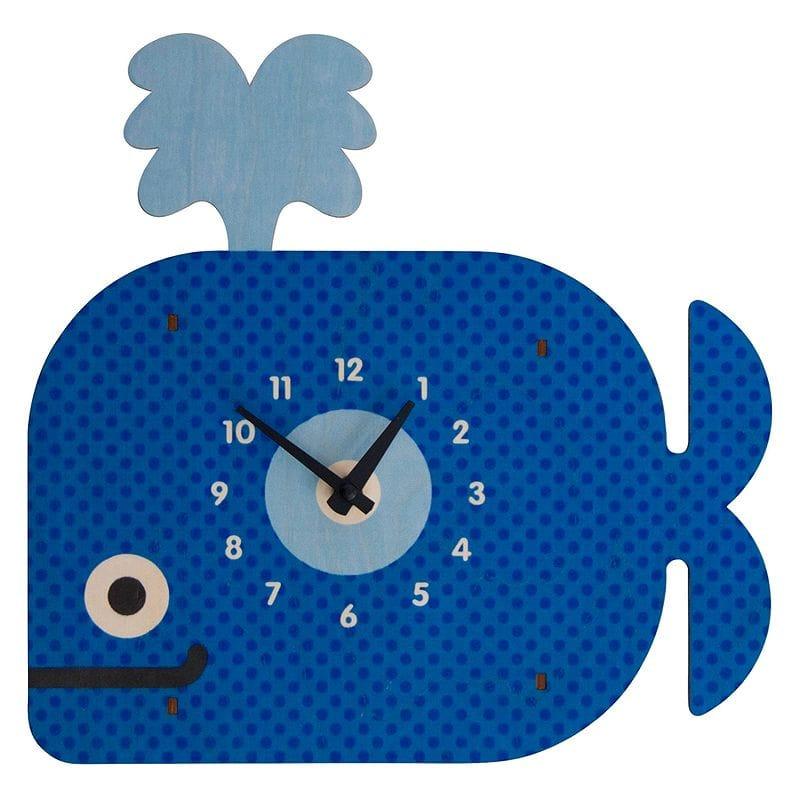 ウォールクロック 木製 壁掛け時計 クジラ Modern Moose Whale Wall Clock