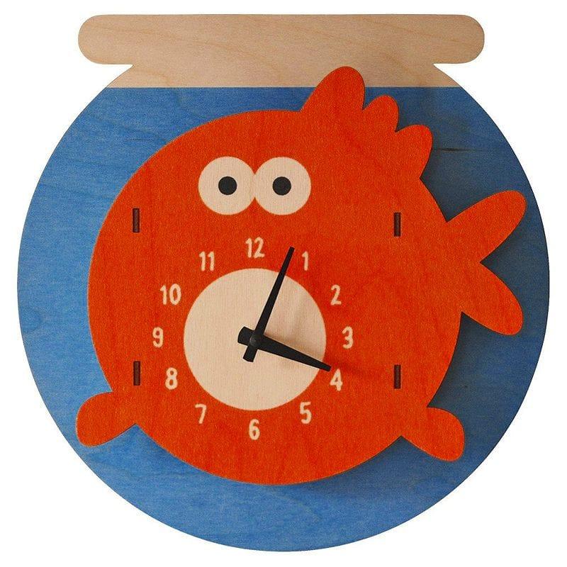 ウォールクロック 木製 壁掛け時計 おさかな Modern Moose Fishbowl Wall Clock