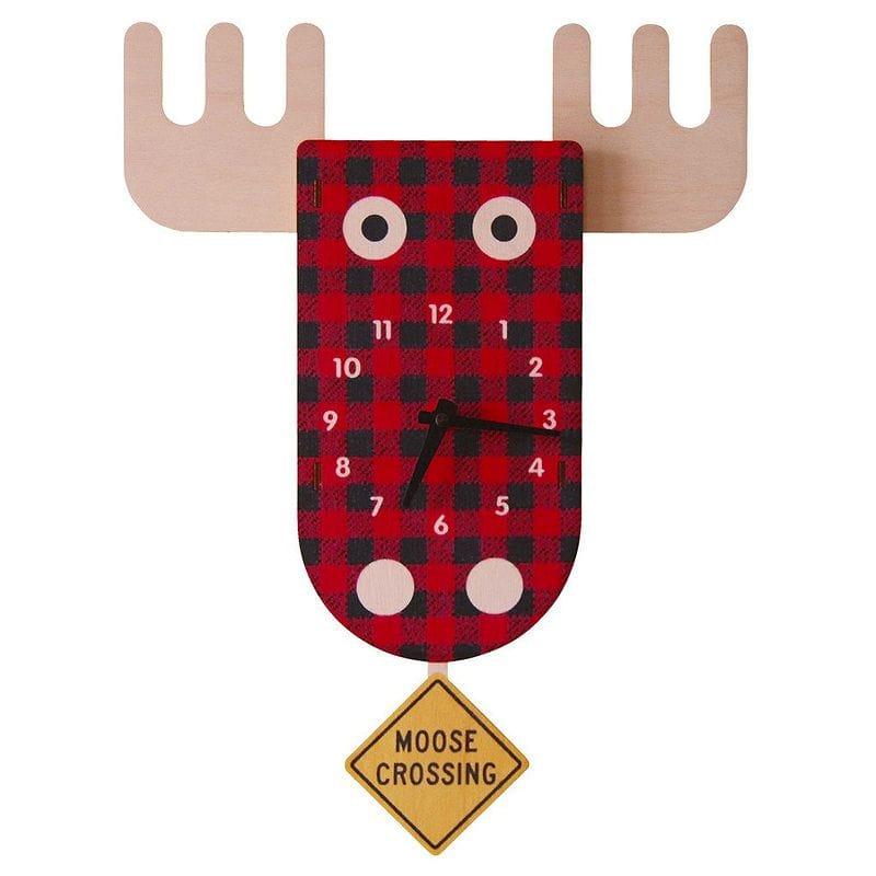 ウォールクロック 木製 振り子時計 壁掛け時計 トナカイ Modern Moose Moose Pendulum Wall Clock