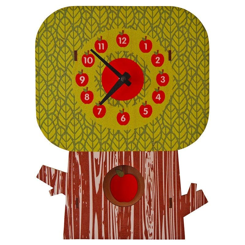 人気No.1 ウォールクロック 木製 振り子時計 りんご 壁掛け時計 りんご Modern Moose Tree 木製 Apple Tree Pendulum Wall Clock, 大人のハワイアン雑貨 ノエオハナ:99710277 --- canoncity.azurewebsites.net