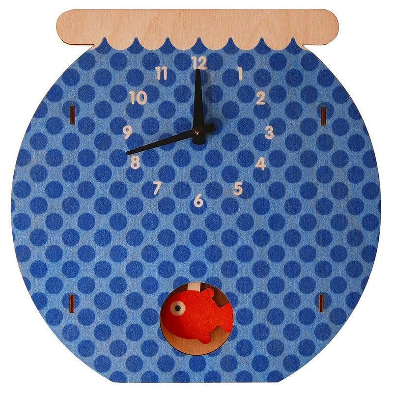 ウォールクロック 木製 振り子時計 壁掛け時計 おさかな Modern Moose Fishbowl Pendulum Wall Clock
