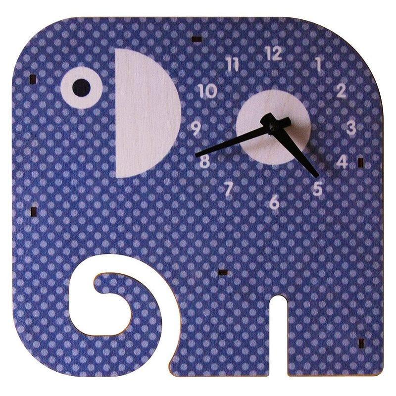 ウォールクロック 木製 壁掛け時計 ゾウ Modern Moose Trunk Wall Clock